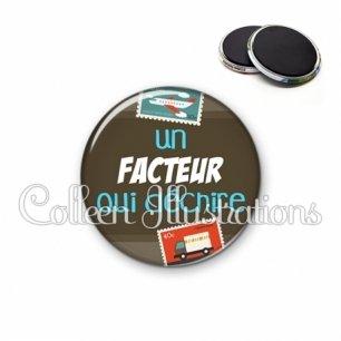 Magnet 56mm Facteur qui déchire (019MAR02)