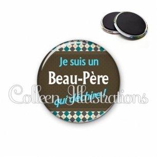 Magnet 56mm Beau-papa qui déchire (019MUL01)