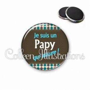 Magnet 56mm Papy qui assure (019MUL01)