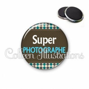 Magnet 56mm Super photographe (019MUL01)