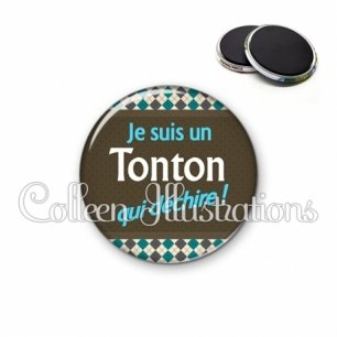 Magnet 56mm Tonton qui déchire (019MUL01)