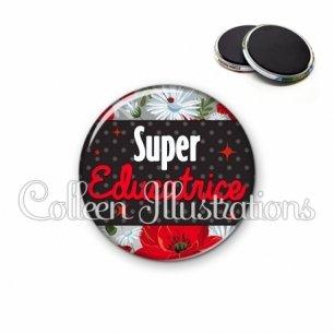 Magnet 56mm Super éducatrice (019MUL02)