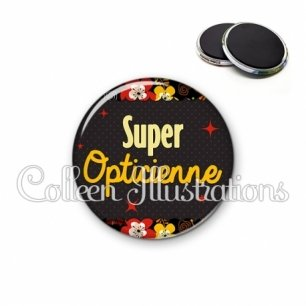 Magnet 56mm Super opticienne (019MUL03)