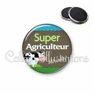Magnet 56mm Super agriculteur (019VER01)