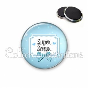 Magnet 56mm Super sœur (023BLE06)