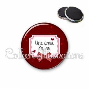 Magnet 56mm Amie en or (023ROU01)