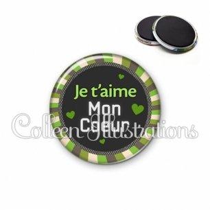 Magnet 56mm Je t'aime mon cœur (027VER01)