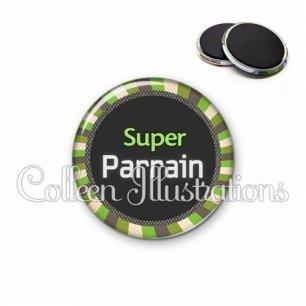 Magnet 56mm Super parrain (027VER01)