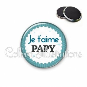 Magnet 56mm Je t'aime papy (028BLE02)