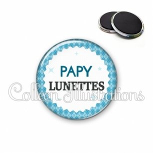 Magnet 56mm Papy lunettes (028BLE03)