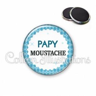 Magnet 56mm Papy moustache (028BLE03)