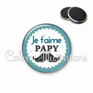 Magnet 56mm Papy je t'aime (028BLE04)