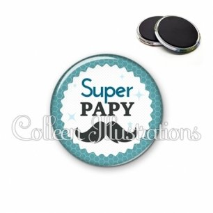 Magnet 56mm Super papy (028BLE04)