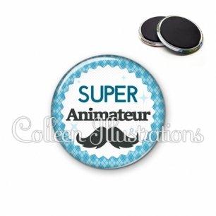 Magnet 56mm Super animateur (028BLE06)