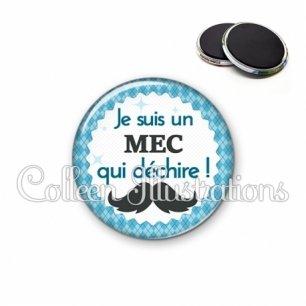 Magnet 56mm Mec qui déchire (028BLE06)