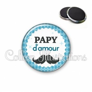 Magnet 56mm Papy d'amour (028BLE06)