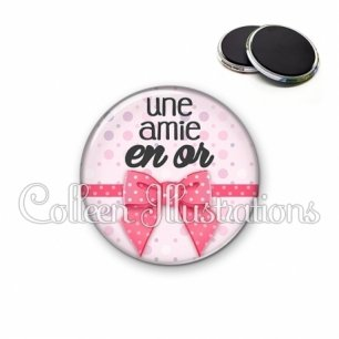 Magnet 56mm Amie en or (029ROS01)