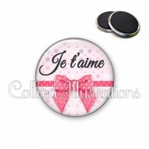 Magnet 56mm Je t'aime (029ROS01)