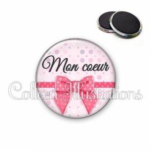 Magnet 56mm Mon cœur (029ROS01)