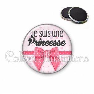 Magnet 56mm Je suis une princesse (029ROS01)