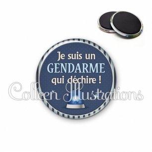 Magnet 56mm Un gendarme qui déchire (031BLE02)