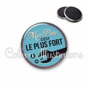 Magnet 56mm Mon papy c'est le plus fort (032BLE02)
