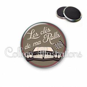 Magnet 56mm Les clés de ma rolls (032MAR02)
