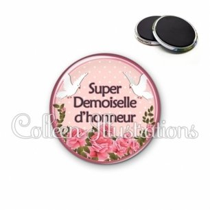 Magnet 56mm Super demoiselle d'honneur (032ROS01)