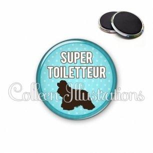 Magnet 56mm Super toiletteur (035BLE01)