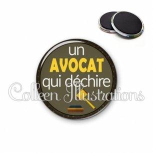 Magnet 56mm Avocat qui déchire (035MAR01)