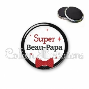 Magnet 56mm Super beau-papa (036NOI01)