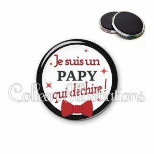 Magnet 56mm Papy qui déchire (036NOI01)