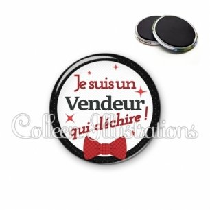 Magnet 56mm Vendeur qui déchire (036NOI01)