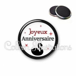 Magnet 56mm Joyeux anniversaire (036NOI02)