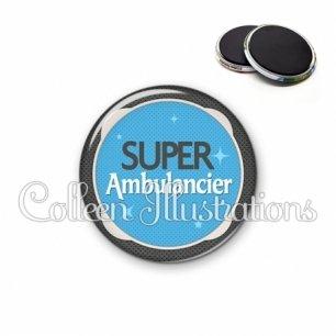 Magnet 56mm Super ambulancier (037BLE04)