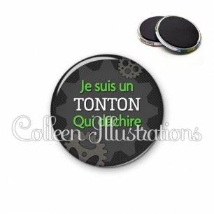 Magnet 56mm Tonton qui déchire (038GRI01)