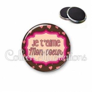 Magnet 56mm Je t'aime mon cœur (039MAR04)