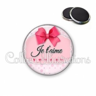 Magnet 56mm Je t'aime (039ROS01)