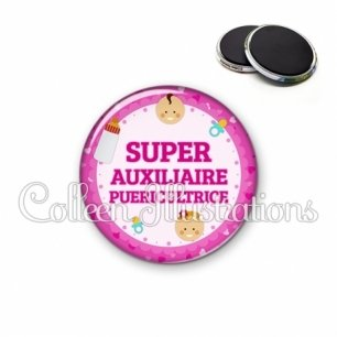 Magnet 56mm Super auxiliaire puéricultrice (044ROS03)