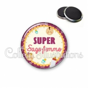 Magnet 56mm Super sage-femme (044VIO01)