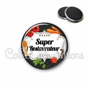 Magnet 56mm Super restaurateur (045NOI02)