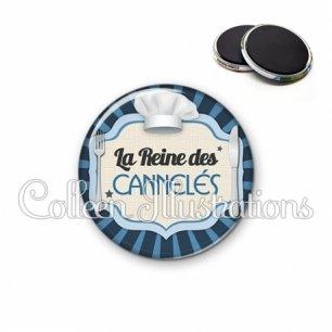 Magnet 56mm La reine des cannelés (048BLE01)