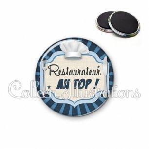 Magnet 56mm Restaurateur au top (048BLE01)