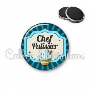 Magnet 56mm Chef patissier (048BLE02)