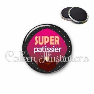 Magnet 56mm Super patissier (050NOI01)