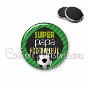 Magnet 56mm Super papa footballeur (050VER01)