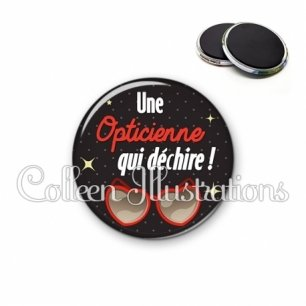 Magnet 56mm Opticienne qui déchire (053NOI01)