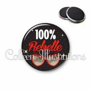 Magnet 56mm 100% rebelle (053NOI01)