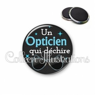 Magnet 56mm Opticien qui déchire (053NOI04)