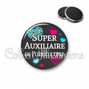 Magnet 56mm Super auxiliaire de puériculture (057GRI01)